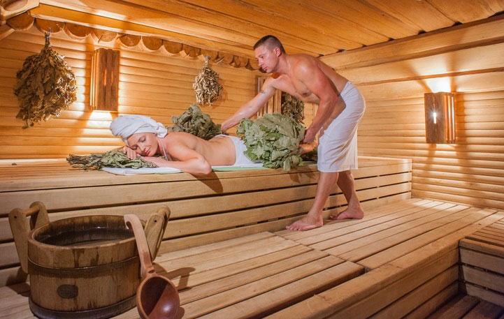 Банный массаж, парилка, баня, веник